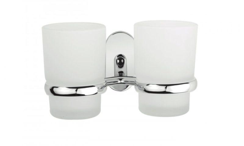 Demerx <br> <strong> Dubbel glashållare med 2 glas Zeker line </strong>
