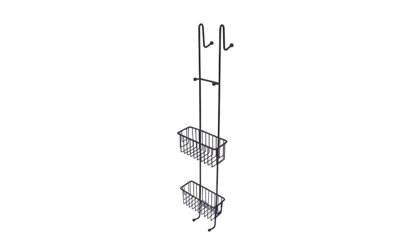 Demerx <br> <strong> Kabina duschhylla för rak dörr/vägg BLACK EDITION </strong>