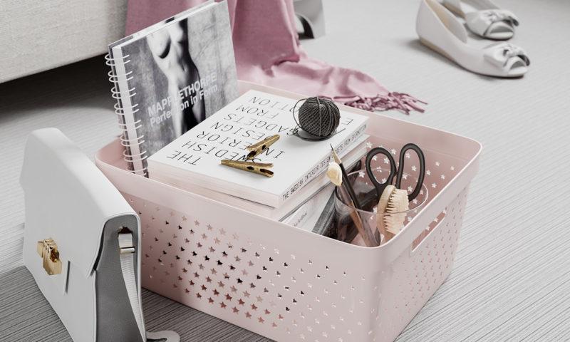 Nordiska Plast <br> <strong> Store It® Förvaringskorg Star Basket 13L Rosa  </strong>