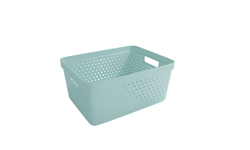 Nordiska Plast <br> <strong> Store It® Förvaringskorg Star Basket 13L Grön  </strong>