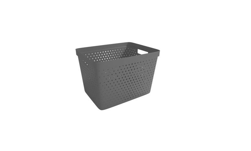 Nordiska Plast <br> <strong> Store It® Förvaringskorg Star Basket 19L Antracitgrå </strong>