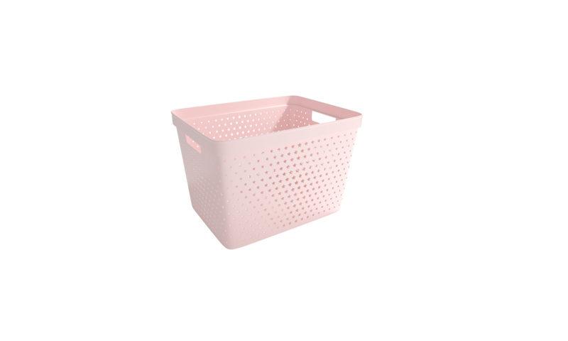 Nordiska Plast <br> <strong> Store It® Förvaringskorg Star Basket 19L Rosa  </strong>