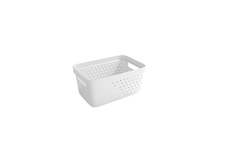 Nordiska Plast <br> <strong> Store It® Förvaringskorg Star Basket 4,5L Vit  </strong>
