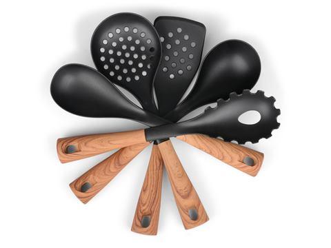 Senso Kitchen <br> <strong> Köksredskap sats svart/trä </strong>